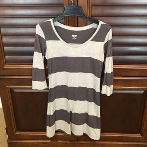 Gray strip tunic size S